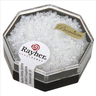 Delica-Rocailles, 1,6 mm ø , alabasterweiß, Dose 8g, perlglanz