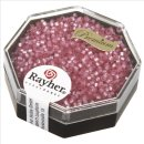 Delica-Rocailles, 1,6 mm ø , rosa chiffon, Dose 6g, perlglanz