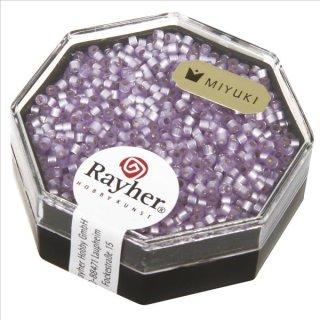 Delica-Rocailles, 1,6 mm ø , violett hell, Dose 6g, perlglanz