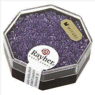 Delica-Rocailles, 1,6 mm ø , violett, Dose 8g, perlglanz