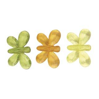 Acryl-Schmetterling, 3 Farben gemischt, 5,5x3 cm, 3 Stück