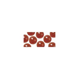 Acryl-Halbperlen, irisierend,  rot, 6 mm, Blister 48 Stück