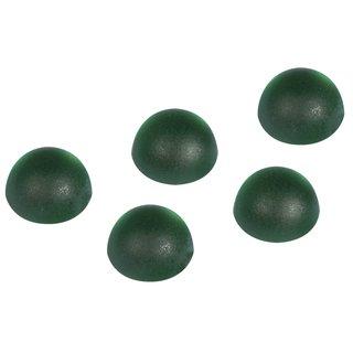 Acryl-Halbperlen, gefrostet, grün, 5 mm, Blister 60 Stück