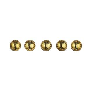 Plastik-Halbperlen, selbstklebend, gold, ø 5 mm, Blister 80 Stück