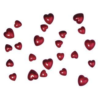 Plastik-Herz, 2 Größen, rot, 24 Stück, 8x1,5 cm, 16x1 cm