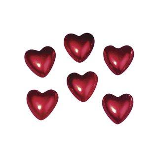 Plastik-Herz, 2,5 cm, rot, 6 Stück