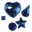 Acryl-Strasssteine zum Aufkleben, dunkelblau, 3-12 mm, 5 Sorten, Beutel 58 Stück