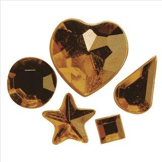 Acryl-Strasssteine zum Aufkleben, topas, 3-12 mm, 5 Sorten, Beutel 58 Stück