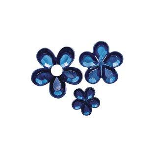Acryl- Strassblüten, dunkelblau, 5,8,10mm, Beutel 310 Stück