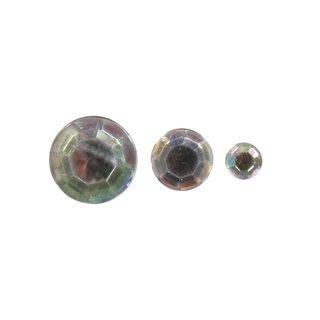 Acryl- Strasssteine, kristall irisierend, 6,10,14mm, Beutel 310 Stück
