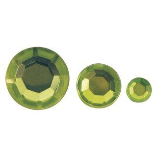 Acryl- Strasssteine, hellgrün, 6,10,14mm, Beutel 310 Stück