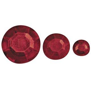 Acryl- Strasssteine, rot, 6,10,14mm, Beutel 310 Stück