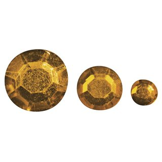 Acryl- Strasssteine, orange, 6,10,14mm, Beutel 310 Stück