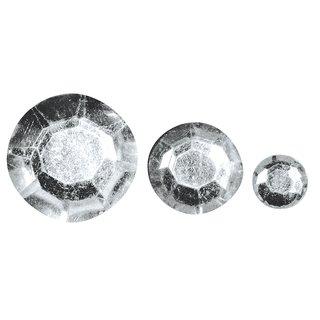 Acryl- Strasssteine, kristall, 6,10,14mm, Beutel 310 Stück