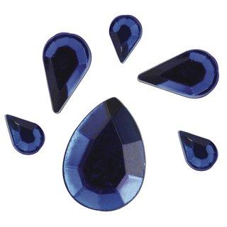Acryl- Strasstropfen, dunkelblau, 6,10,14mm, 310 Stück