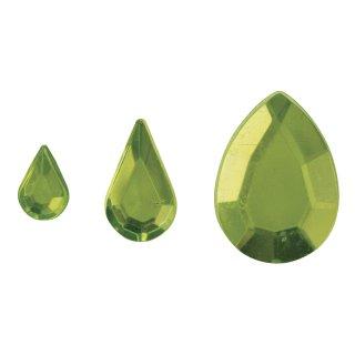 Acryl- Strasstropfen, hellgrün, 6,10,14mm, 310 Stück