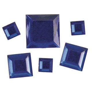 Acryl- Strassquadrate, dunkelblau, 6,10,14mm, 310 Stück