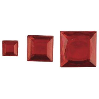Acryl- Strassquadrate, rot, 6,10,14mm, 310 Stück