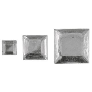 Acryl- Strassquadrate, kristall, 6,10,14mm, 310 Stück