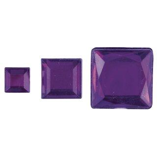 Acryl- Strassquadrate, lila, 6,10,14mm, 310Stück