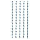 Plastik-Strasssteine, selbstklebend, hellblau, 3 mm