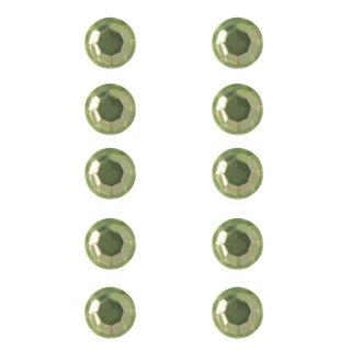 Plastik-Strasssteine, selbstklebend, hellgrün, 5 mm