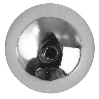 Plastik-Rundperlen, 4 mm ø, silber, Dose 150 Stück