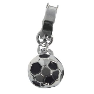 Shoe-Charms: Fußball, 10mm, mit Clip 11mm
