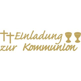 ... Klebeschrift: Einladung Zur Kommunion, Gold