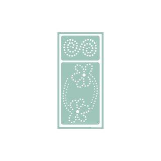 Softschablone, 9,5x20 cm, Blume