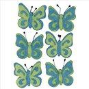 Filz-Schmetterling, hellblau, 5cm, Beutel 6Stück