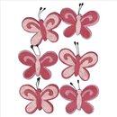 Filz-Schmetterling, pink, 5cm, Beutel 6Stück