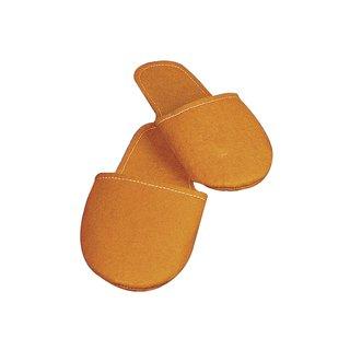 Deko-Filzpantoffel, 24 cm, orange, Beutel 1 Paar