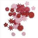 Papier-Blütenmischung, Rot-/Rosétöne,...