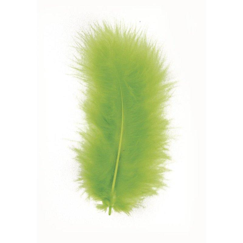 Feder Deko Weihnachten: Deko-Feder, Hellgrün, 8 Cm, Beutel 10 Stück