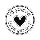 """Stempel """"Mit Liebe"""", 3cm ø"""