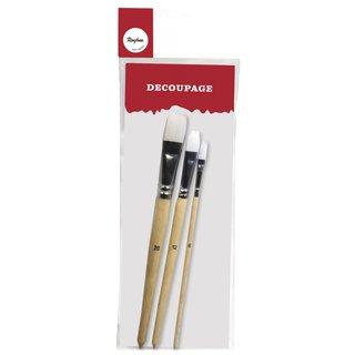 RAYHER 3730800/Decoupage Brush Set/ 10/and 16/mm /Set of 2