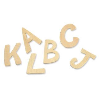 Holz- Buchstaben FSC Mix Credit, 6cm ø