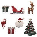 Knöpfe - Weihnachten, 1,5-4cm