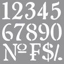 Schablone Nummern, 30,5x30,5cm
