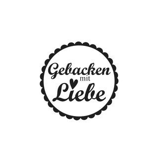 """Mini-Holzstempel /""""G Butterer Schenk/"""" 2cm ø"""
